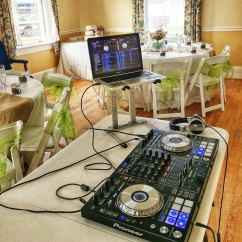 Set-up for a small wedding reception